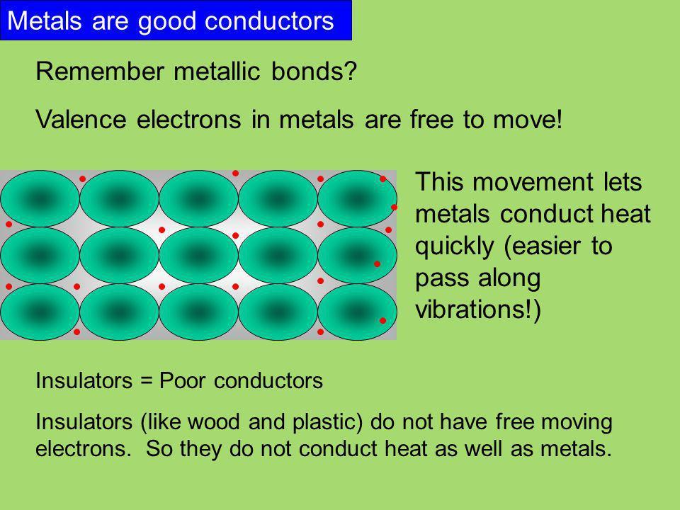 Metals are good conductors
