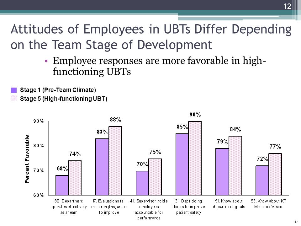 Attitudes of Employees in UBTs Differ Depending on the Team Stage of Development