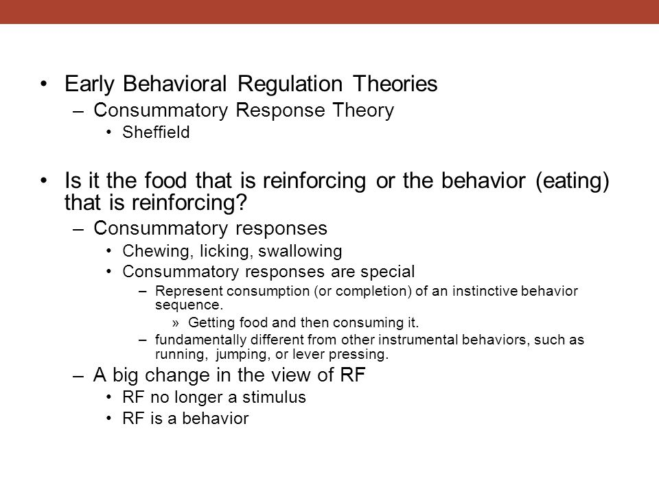 Early Behavioral Regulation Theories