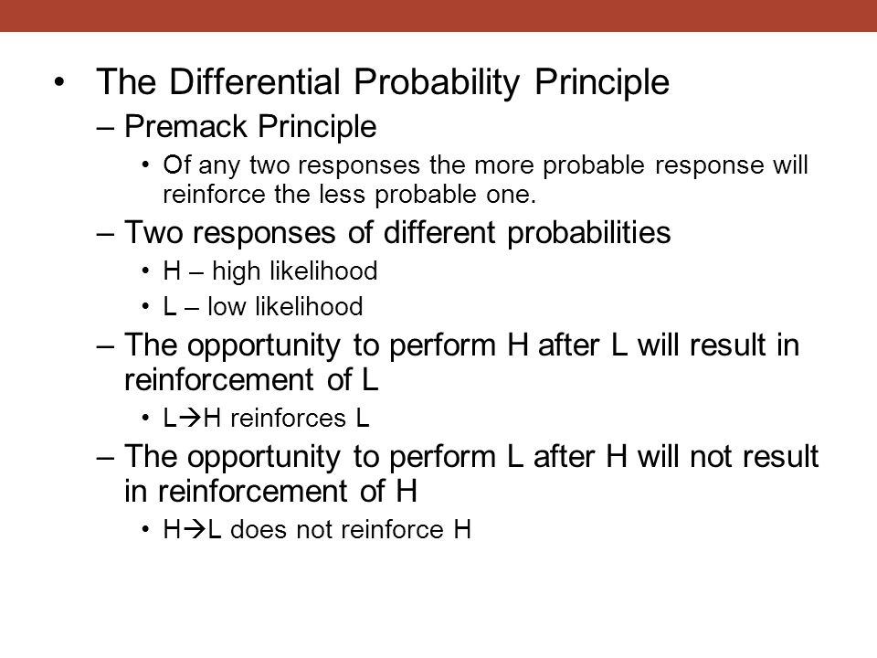 The Differential Probability Principle