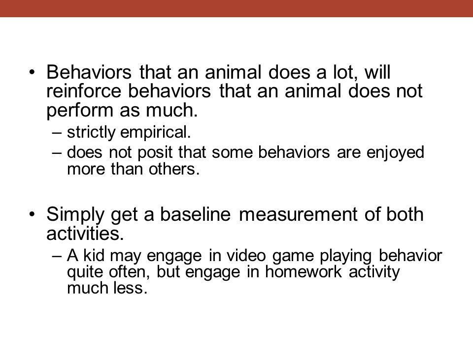 Simply get a baseline measurement of both activities.