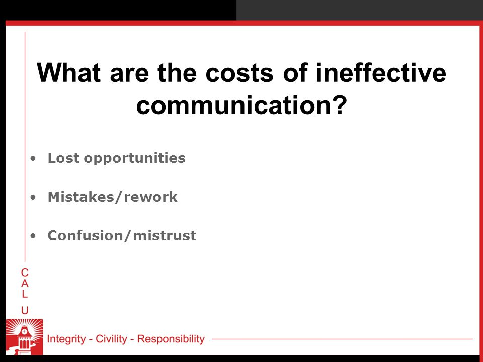 What are the costs of ineffective communication