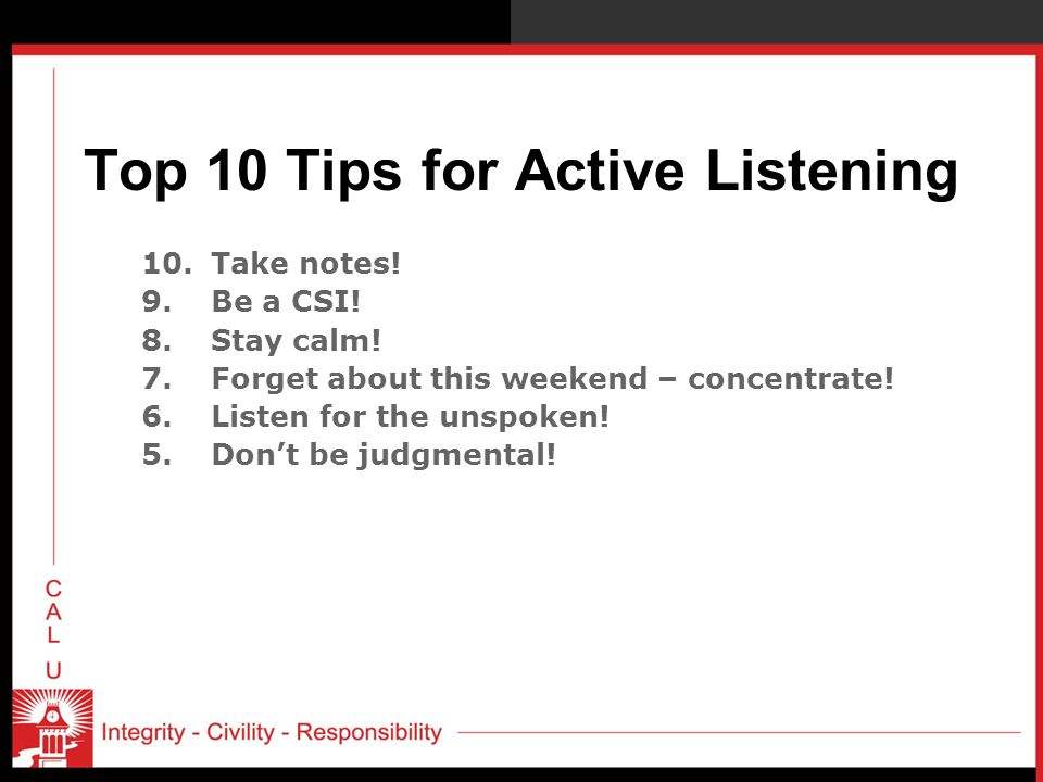 Top 10 Tips for Active Listening