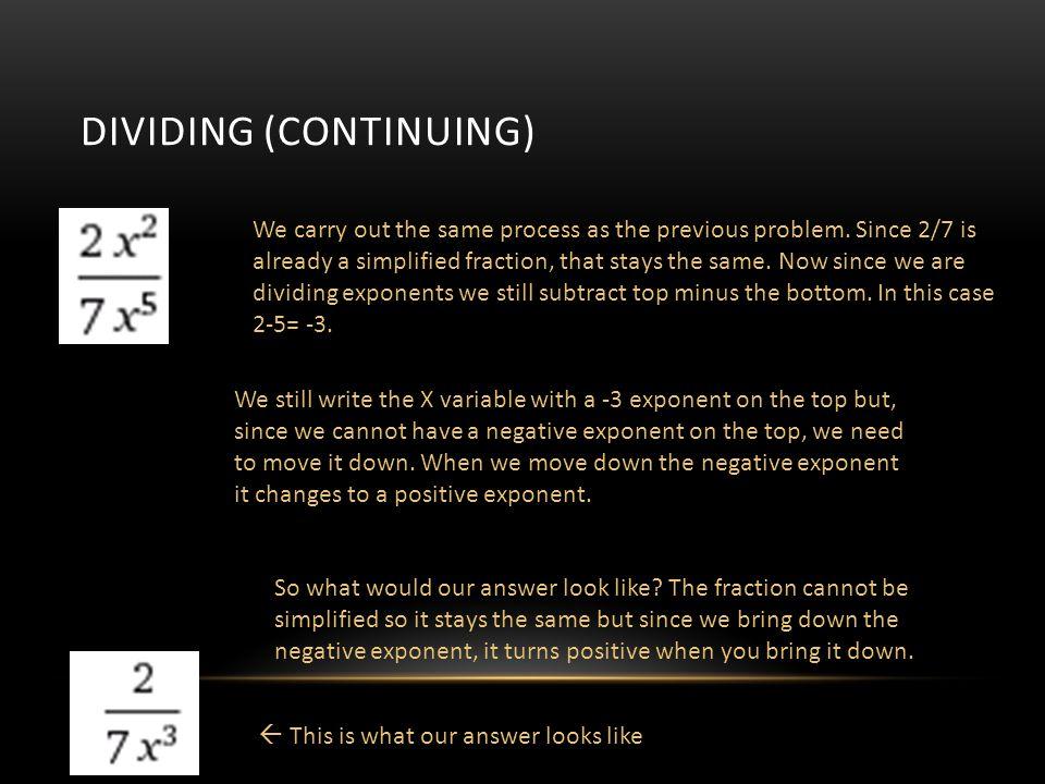 Dividing (Continuing)