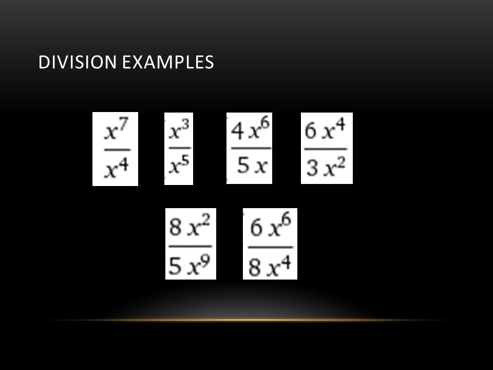 Division Examples