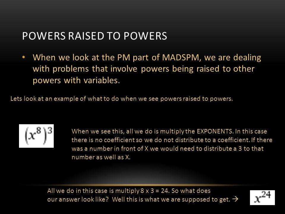 Powers raised to powers
