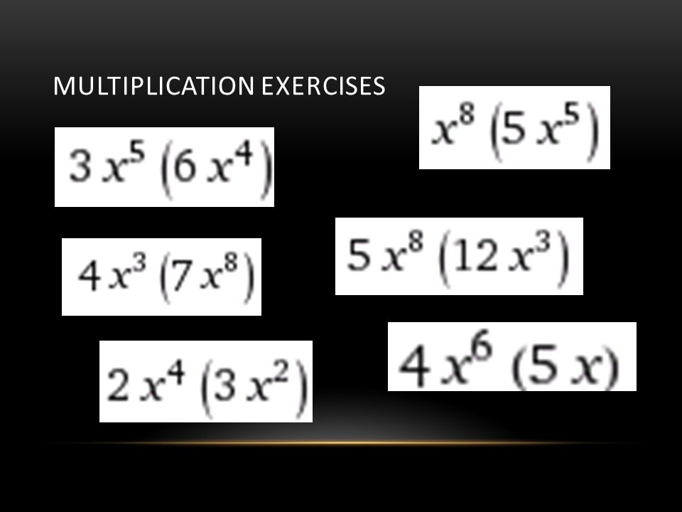 Multiplication Exercises