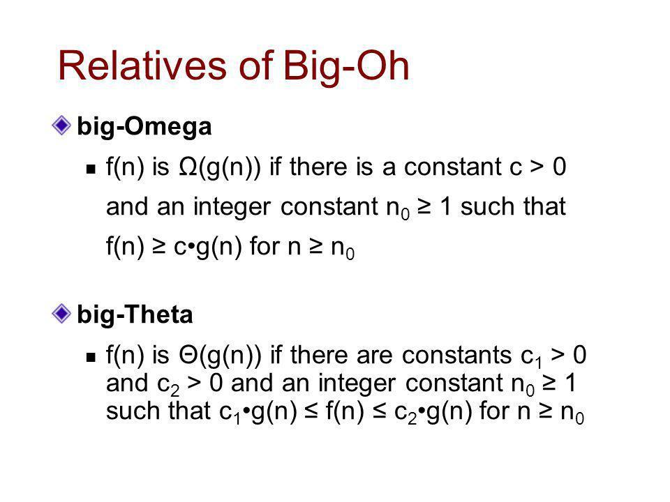 Relatives of Big-Oh big-Omega