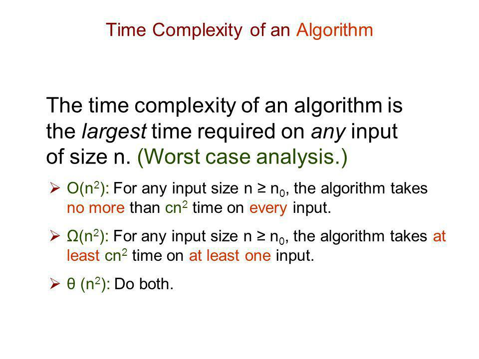 Time Complexity of an Algorithm