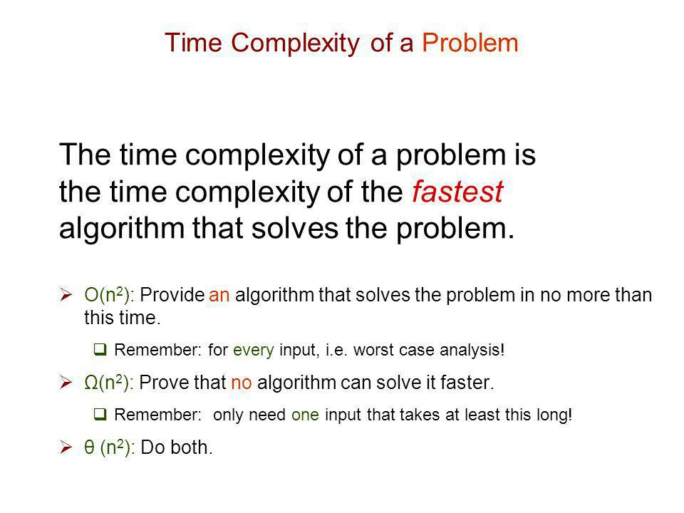 Time Complexity of a Problem