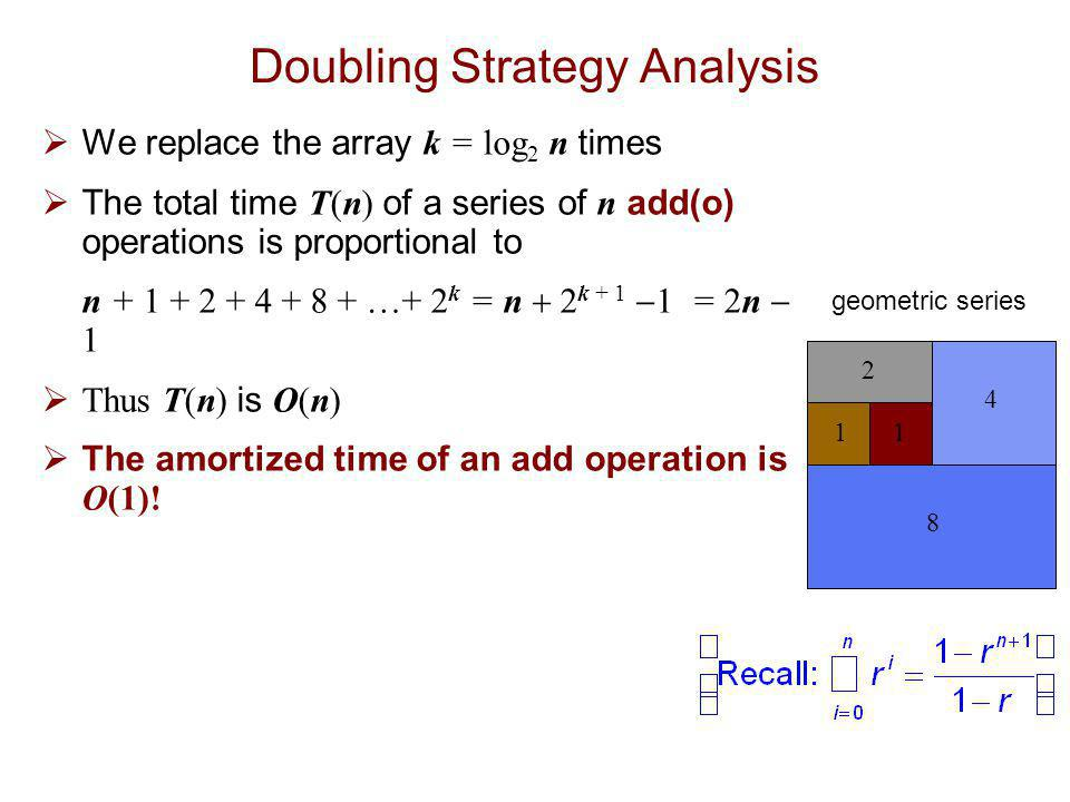 Doubling Strategy Analysis
