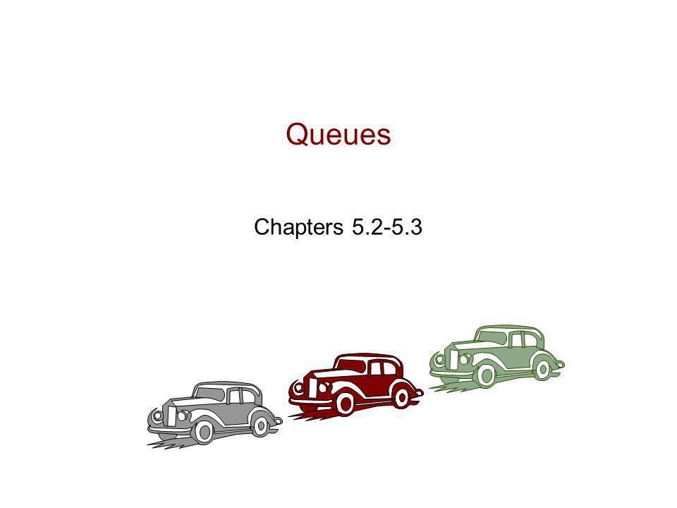Queues 4/8/2017 4:39 AM Queues Chapters 5.2-5.3