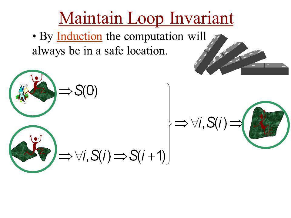 Maintain Loop Invariant