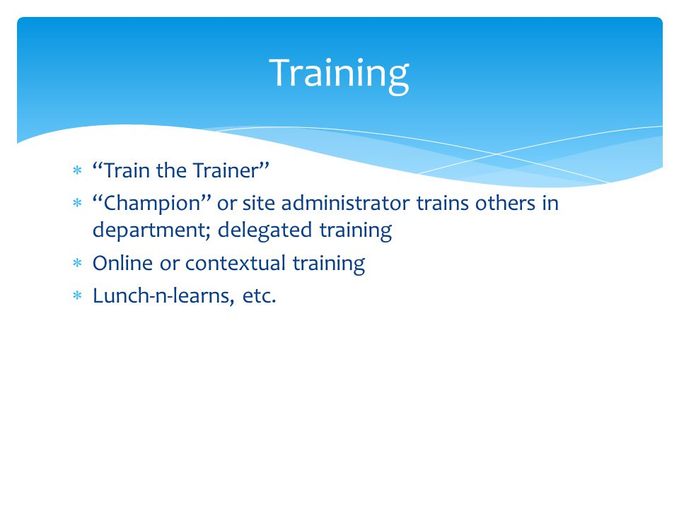 Training Train the Trainer