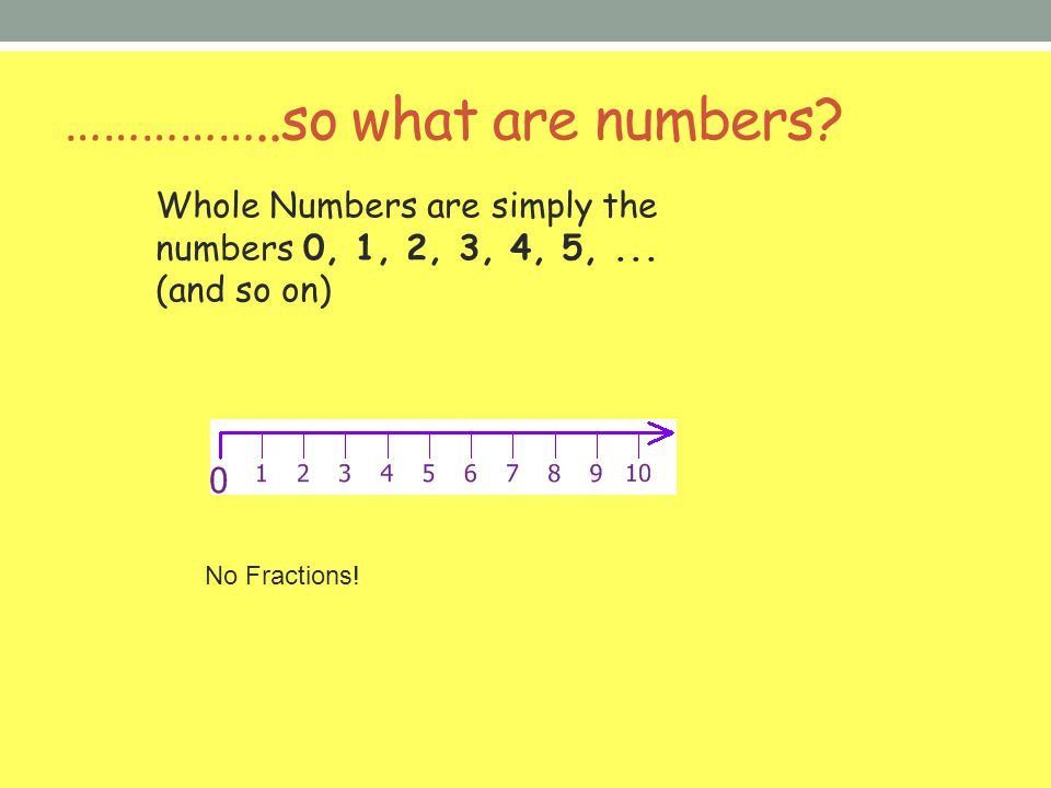 ……………..so what are numbers