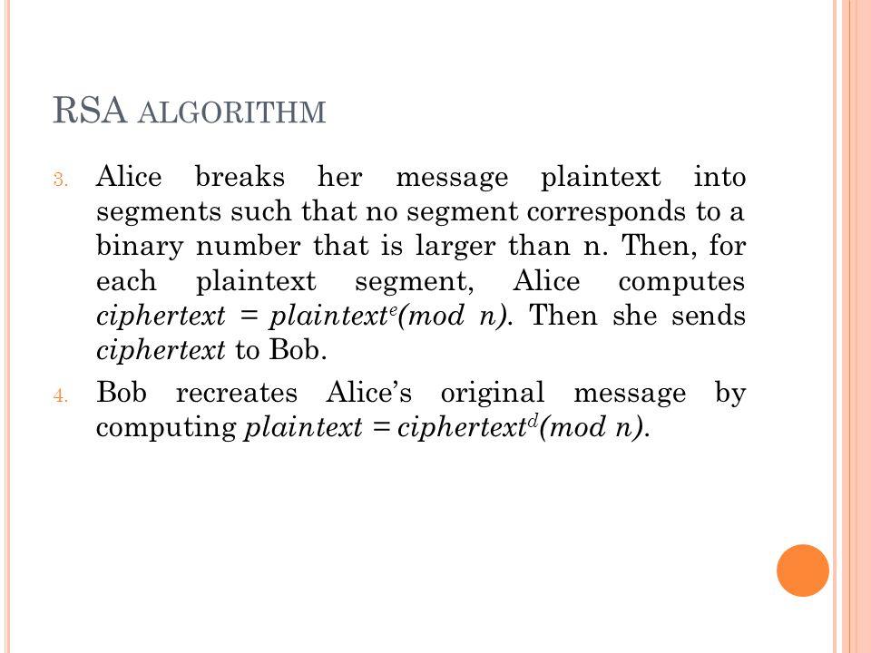 RSA algorithm