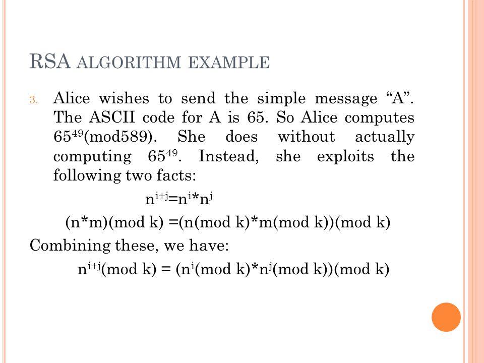 RSA algorithm example
