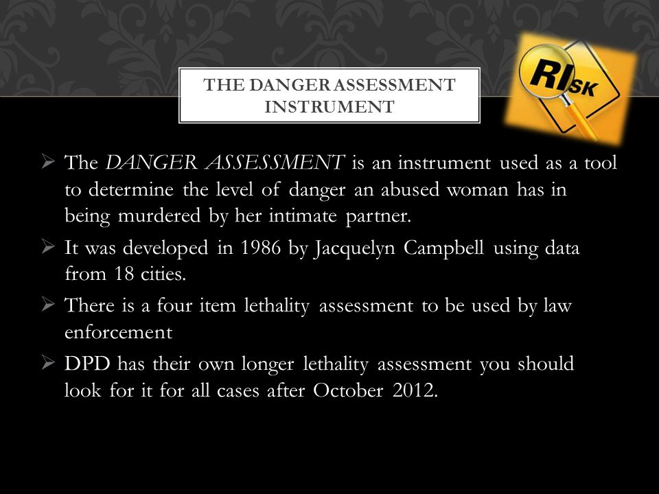 The Danger Assessment Instrument