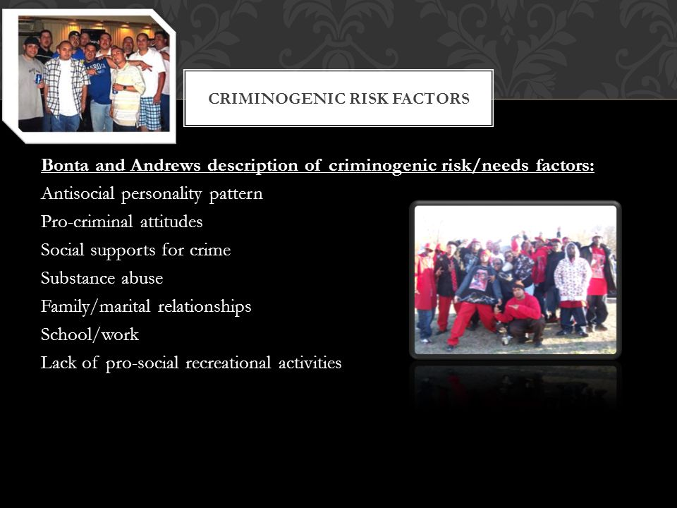 Criminogenic Risk factors