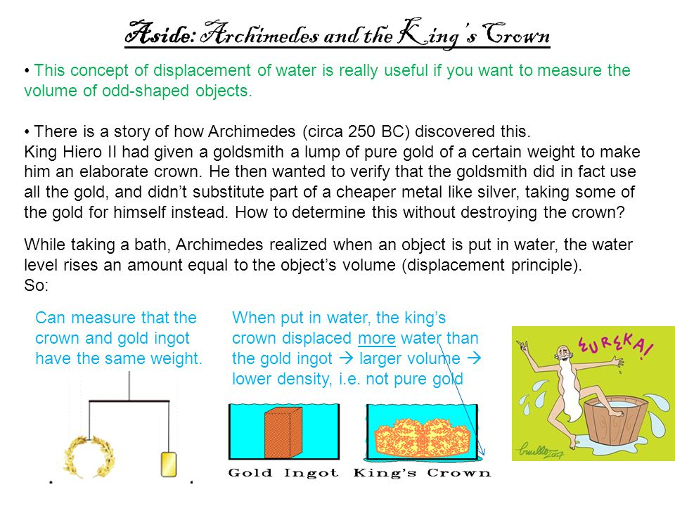 Aside: Archimedes and the King's Crown
