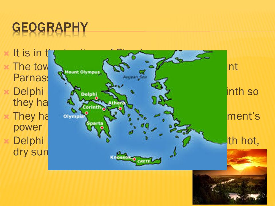 Geography It is in the territory of Phocis