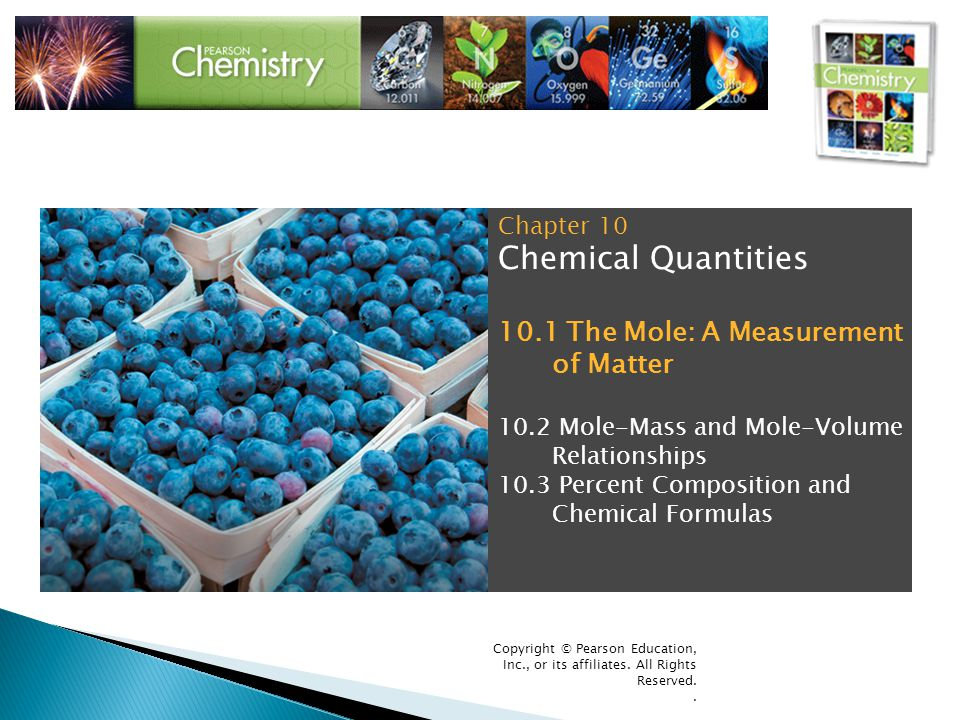 Chemical Quantities 10.1 The Mole: A Measurement of Matter Chapter 10