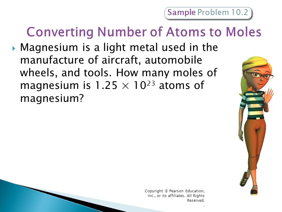 Converting Number of Atoms to Moles