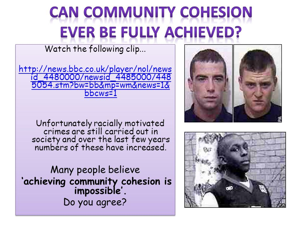 Can community cohesion
