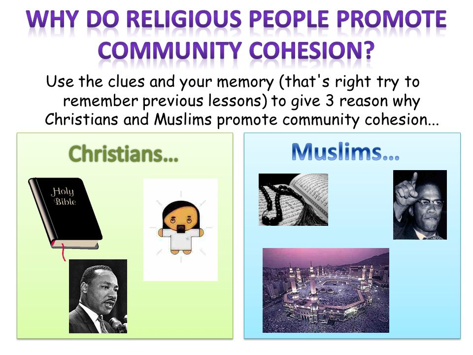 Why do religious people promote