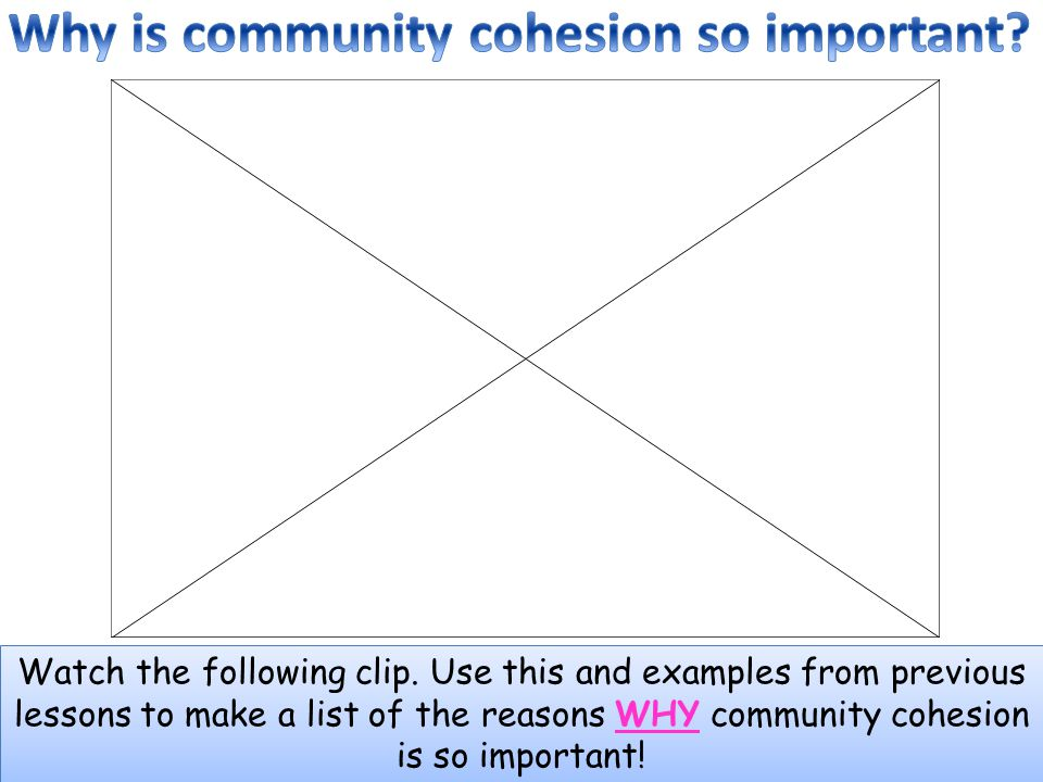 Why is community cohesion so important