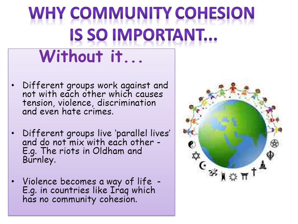 Why community cohesion