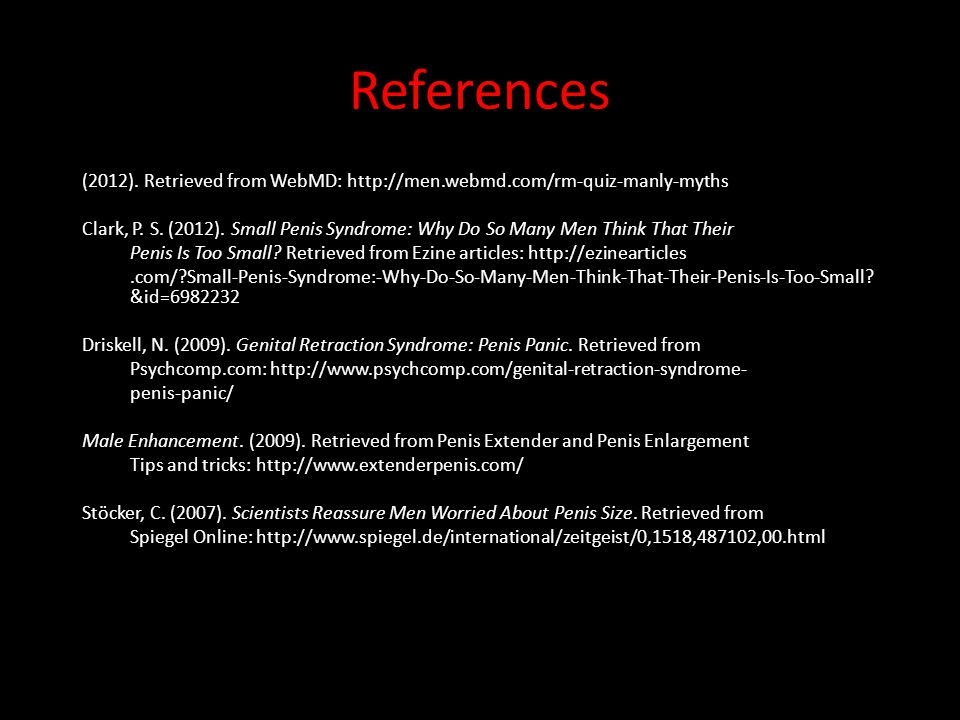 References (2012). Retrieved from WebMD: http://men.webmd.com/rm-quiz-manly-myths.