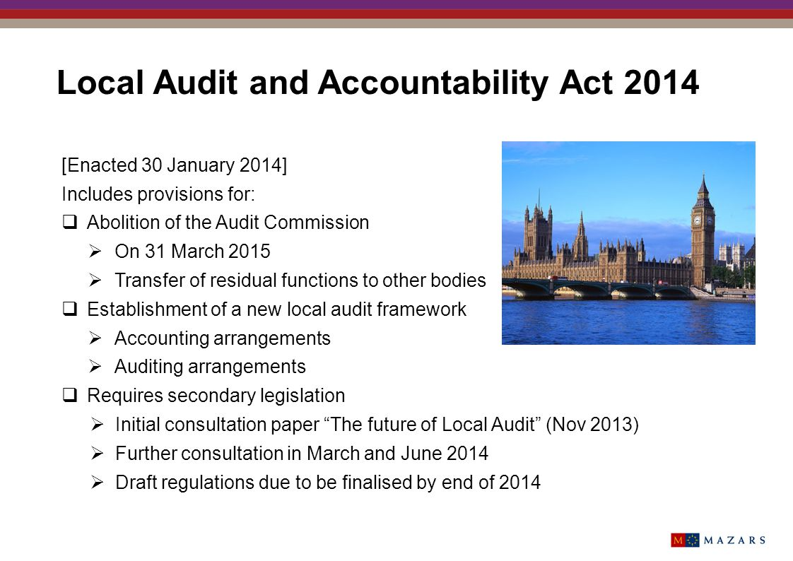 Local Audit and Accountability Act 2014