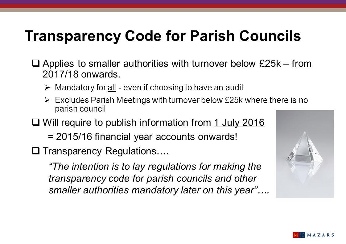 Transparency Code for Parish Councils