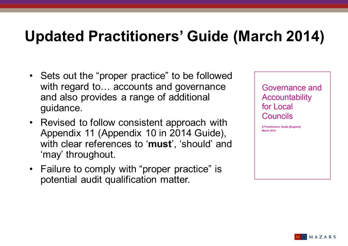 Updated Practitioners' Guide (March 2014)