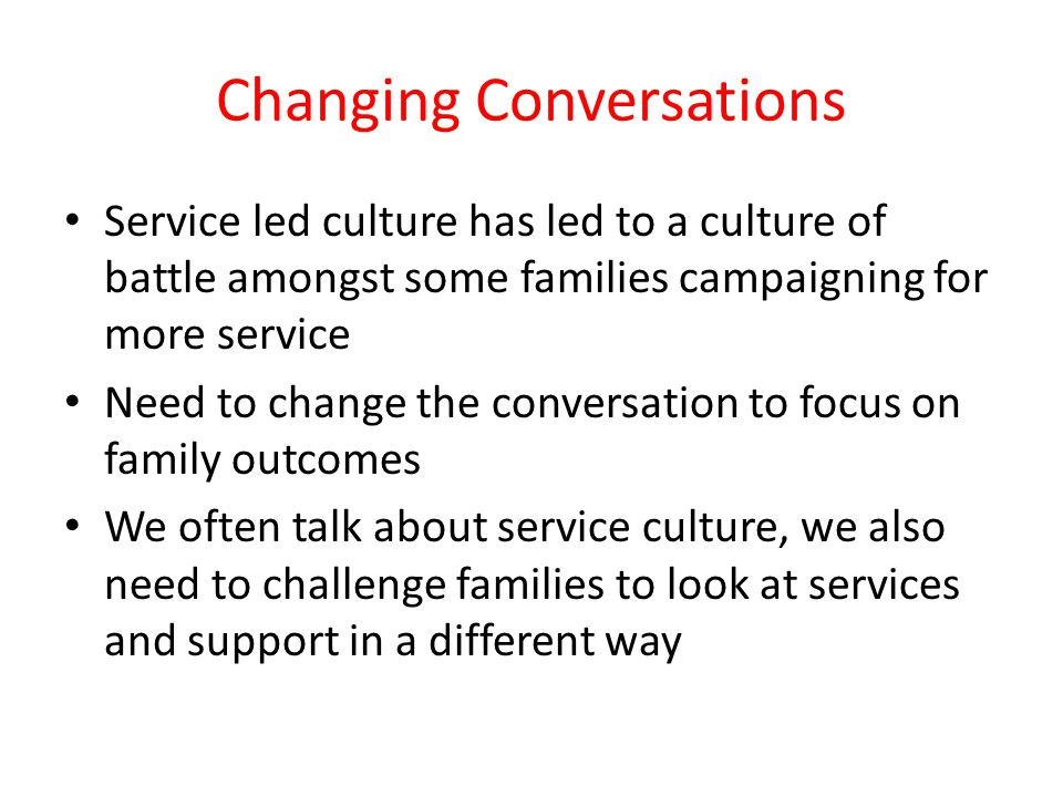 Changing Conversations