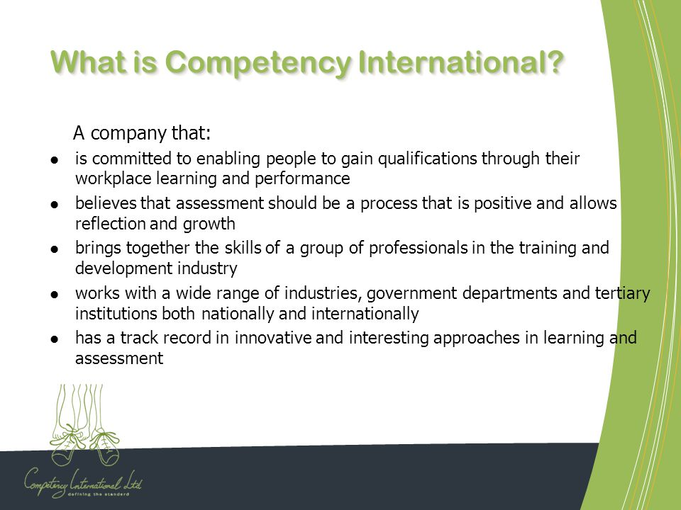 What is Competency International