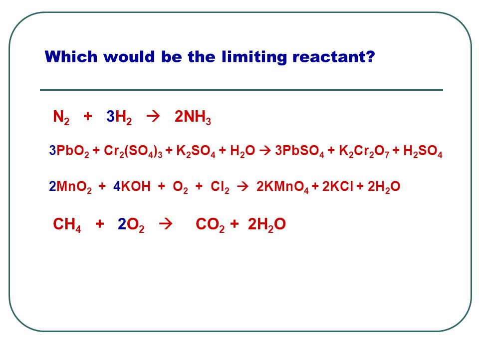Which would be the limiting reactant