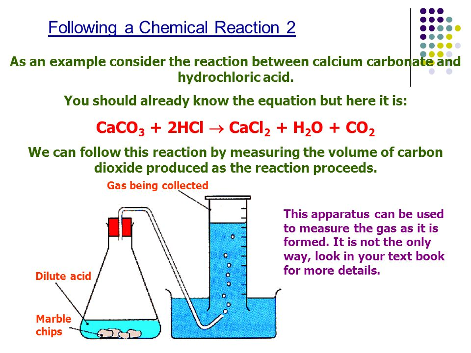 hydrochloric acid reaction rate calcium carbonate What is a carbonate carbonates are the fizz produced in sherbet is a reaction between a food acid and a carbonate hydrochloric acid + sodium carbonate.
