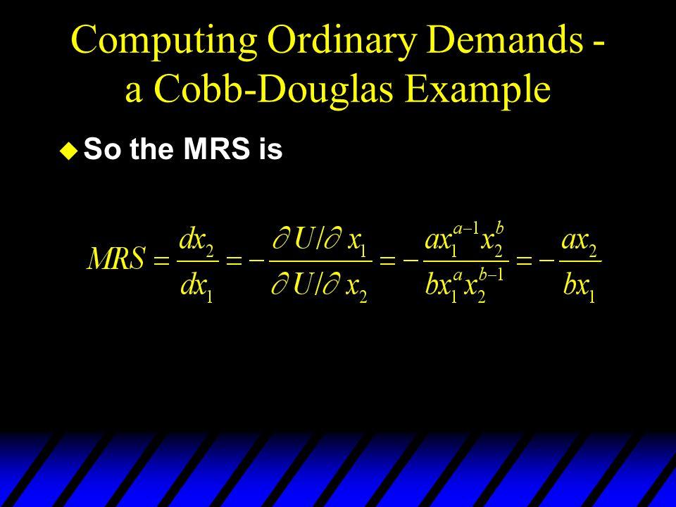 Computing Ordinary Demands - a Cobb-Douglas Example