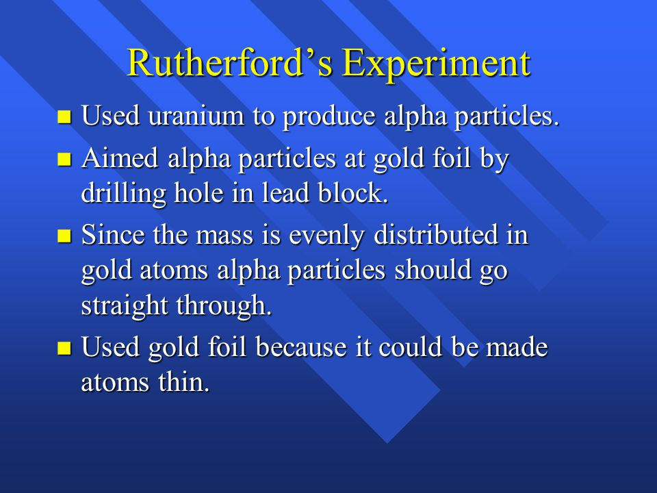 Rutherford's Experiment