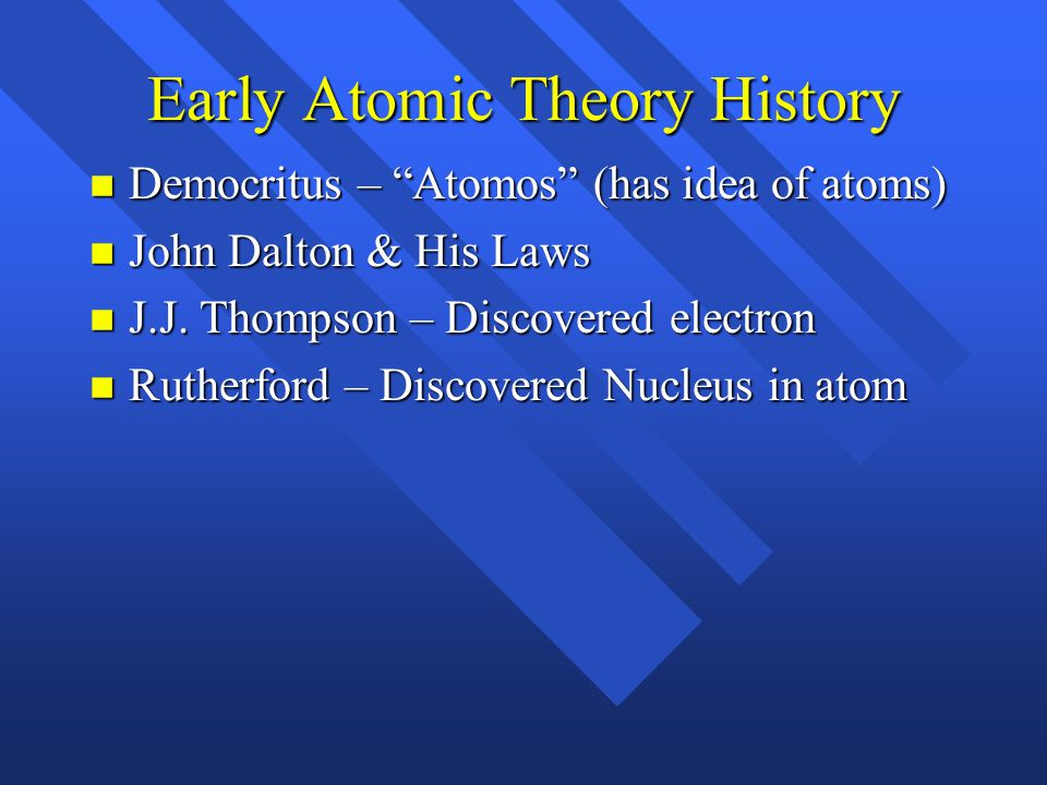 Early Atomic Theory History