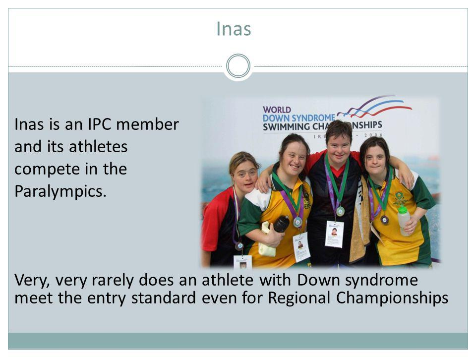 Inas Inas is an IPC member and its athletes compete in the