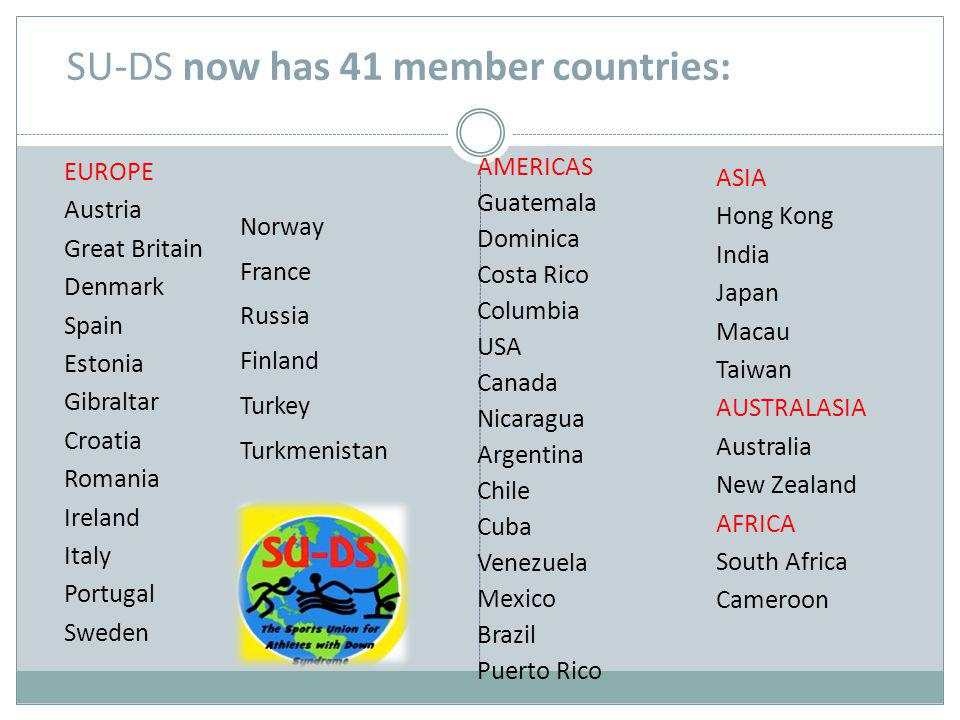 SU-DS now has 41 member countries: