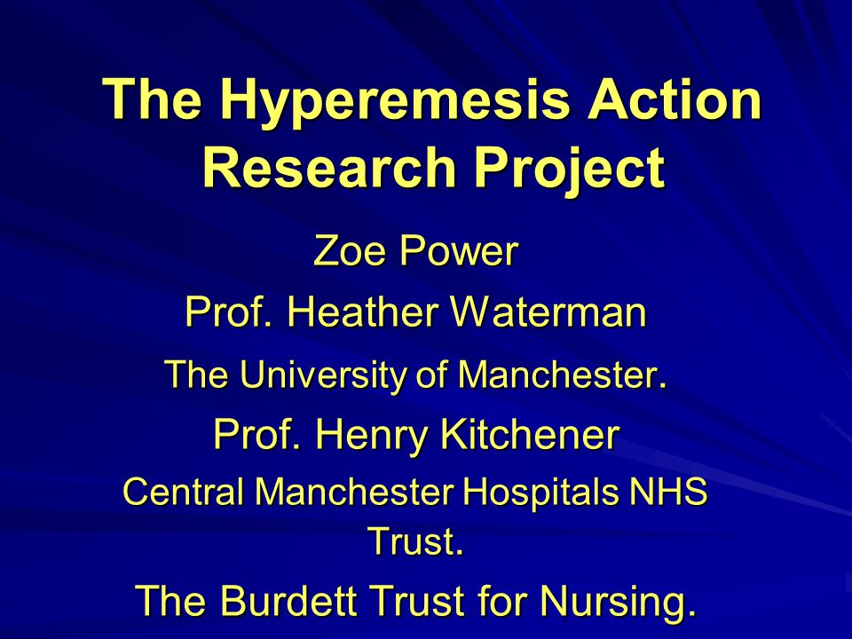 The Hyperemesis Action Research Project