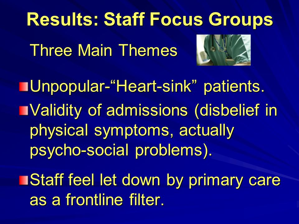 Results: Staff Focus Groups