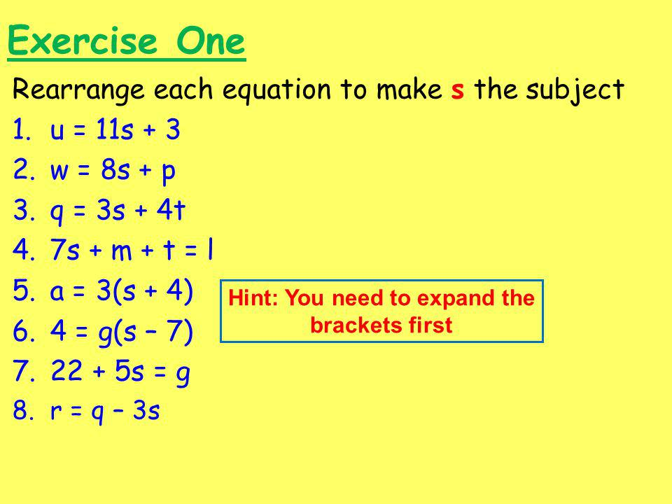 Hint: You need to expand the brackets first