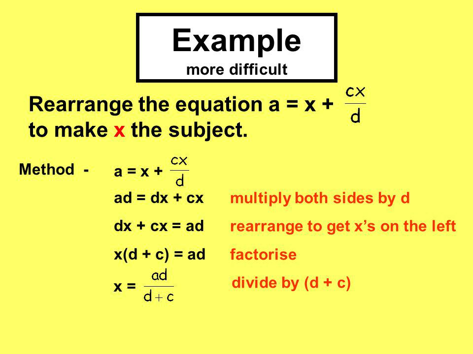 Example more difficult