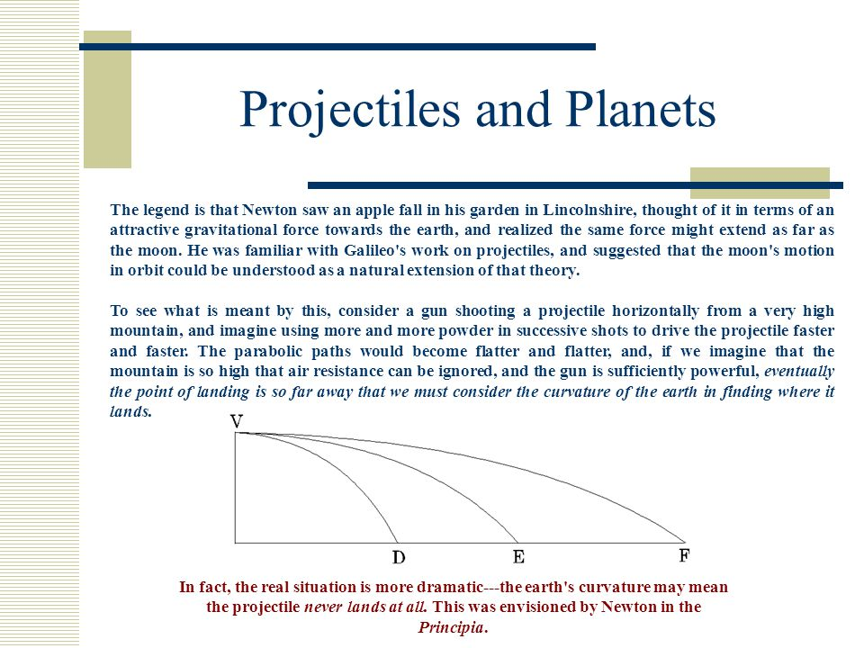 Projectiles and Planets
