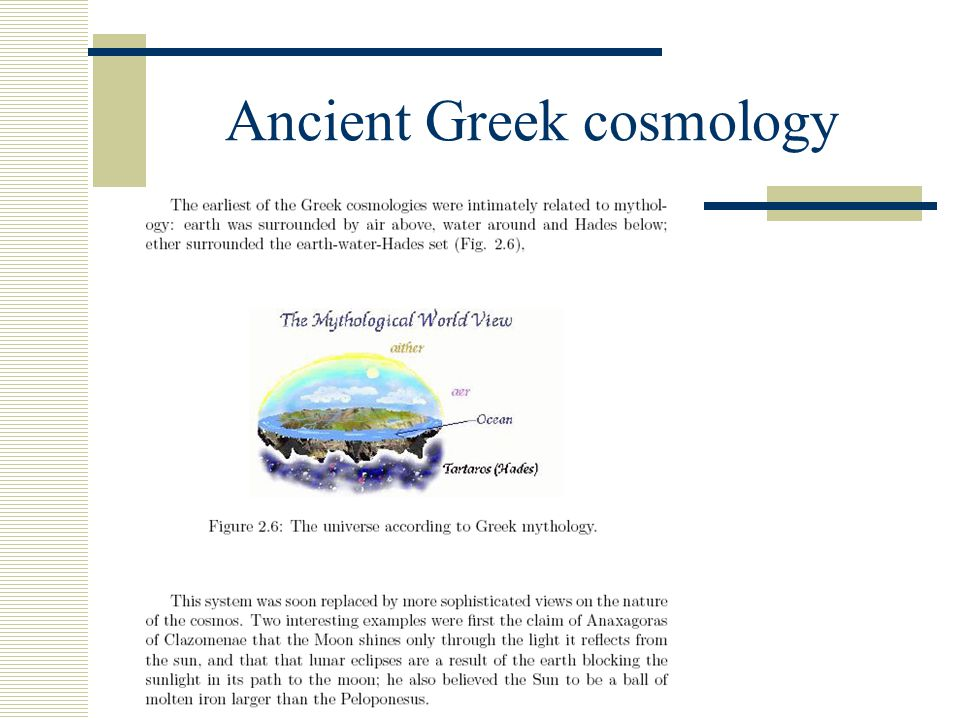 Ancient Greek cosmology